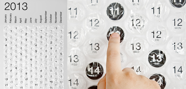 Quirky Item Of The Week Bubble Wrap Calendar So Fetch Daily