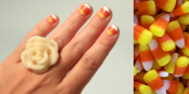 DIY Candy Corn Manicure by Julie Ann Art