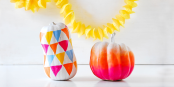 DIY Funky Ombre Pumpkins by Funkytime