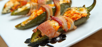 Bacon Wrapped Buffalo Chicken Jalapeno Poppers by Closet Cooking