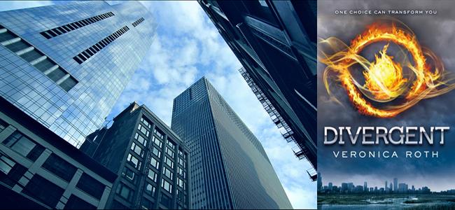 Cinematic Cityscape (Image Credit: Bob Vonderau) / Divergent (Image Credit: Veronica Roth)