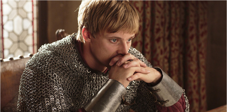 Bradley James as King Arthur Pendragon in MERLIN (Image Credit: http://www.bbc.co.uk)