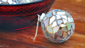 Diy golden snitch ornaments by tiny apartment crafts so fetch daily diy mosaic ornaments by creme de la craft solutioingenieria Choice Image