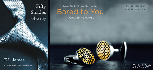 Fifty Shades of Grey Cover (Image Credit: EL James) / Bard to You Cover (Image Credit: Slyvia Day)