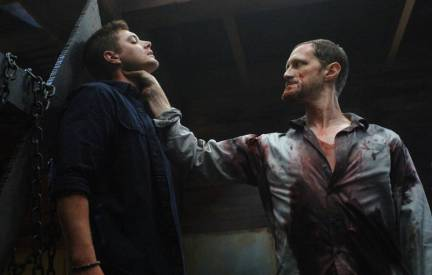 Jensen Ackles and Christopher Heyerdahl in SUPERNATURAL (Image Credit: The CW Network. All Rights Reserved)