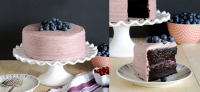 The Moistest Chocolate Cake with Berry Mascarpone Frosting Recipe by Tartlet Sweets