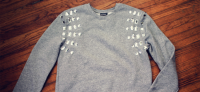DIY Embellished Sweatshirt by We Live Upstairs