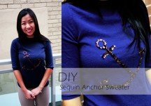 DIY Sequin Anchor Sweater by My Little Secrets
