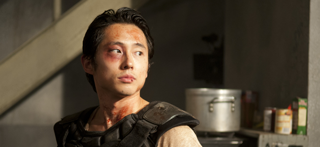 Steven Yeun as Glenn in THE WALKING DEAD