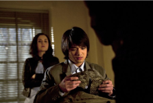 Rachel Miner as Meg and Osric Chau as Kevin in SUPERNATURAL