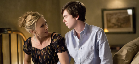 Vera Farmiga as Norma Bates and Freddie Highmore as Norman Bates in BATES MOTEL (Image Credit: Joseph Lederer)