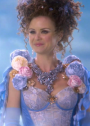 Keegan Connor Tracy as the Blue Fairy in ONCE UPON A TIME