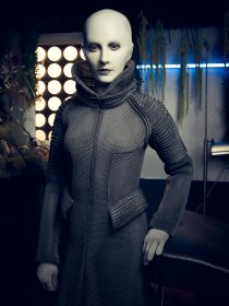 Trenna Keating as Doc Yewll in DEFIANCE (Image Credit: Joe Pugliese/Syfy)