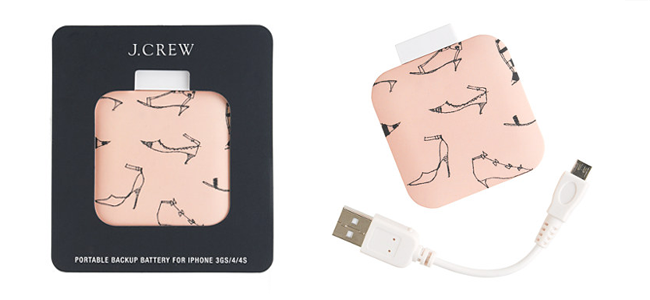 Printed Backup Battery for iPhone by J.Crew