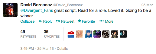 Image credit: Twitter profile @David_Boreanaz
