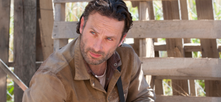 Andrew Lincoln as Rick Grimes in THE WALKING DEAD (Image Credit: Gene Page/AMC)