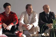 Jason Dohring, Ryan Hansen, and Enrico Colantoni (Image Credit: Veronica Mars Kickstarter)