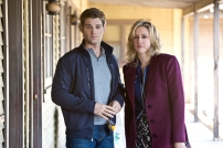 Mike Vogel as Deputy Zack Shelby and Vera Farmiga as Norma Bates in BATES MOTEL (Image Credit: Joseph Lederer)
