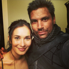 Calina Jade and Manu Bennett (Image Credit: Celina Jade Instagram)