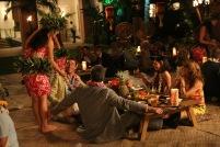 Don Draper (Jon Hamm), Bob Grange (David Starzyk), Megan Draper (Jessica Pare) and Patty Grange (Erica Shaffer) - Mad Men (Photo Credit: Michael Yarish/AMC)