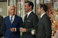 Roger Sterling (John Slattery), Don Draper (Jon Hamm) and Pete Campbell (Vincent Kartheiser) - Mad Men (Photo Credit: Michael Yarish/AMC)