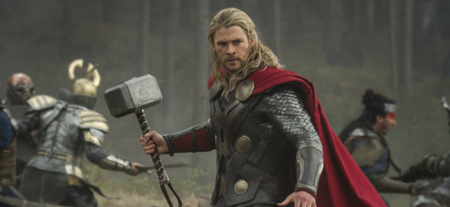 Chris Hemsworth as Thor in THOR: THE DARK WORLD (Image Credit: Marvel)