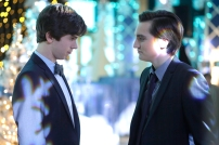 Freddie Highmore as Norman Bates and Richard Harmon as Richard Sylmore in BATES MOTEL (Image Credit: Joseph Lederer)