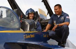 James Franco with The Blue Angels (Image Credit: Chief Mass Communication Specialist Monica Hallman)