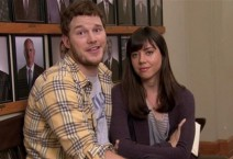 Chris Pratt as Andy Dwyer and Aubrey Plaza as April Ludgate in PARKS AND RECREATION (Image Credit: NBC)