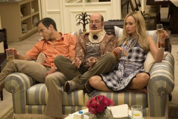 Will Arnett as Gob Bluth, David Cross as Tobias Fünke, and Portia de Rossi as Lindsay Bluth Fünke in ARRESTED DEVELOPMENT (Image Credit: Netflix)