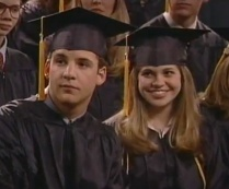Ben Savage as Cory Matthews and Danielle Fishel as Topanga Lawrence in BOY MEETS WORLD (Image Credit: Disney)