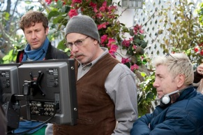 On the set of FAMILY TREE (Image Credit: HBO)