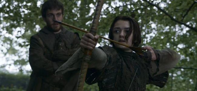 Maisie Williams as Arya Stark in GAME OF THRONES (Image Credit: HBO)