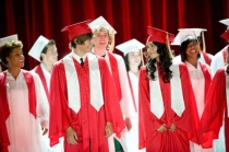 Zac Efron as Troy Bolton and Vanessa Hudgens as Gabriella Montez in HIGH SCHOOL MUSICAL 3: SENIOR YEAR (Image Credit: Disney)