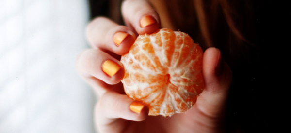 Orange Nails (Image Credit: Iryna Yeroshko)