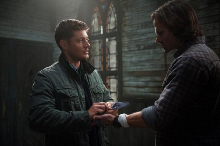 Jensen Ackles as Dean Winchester and Jared Padalecki as Sam Winchester in SUPERNATURAL (Image Credit: Diyah Pera / The CW Network)
