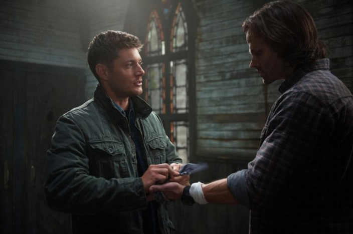 Jensen Ackles as Dean Winchester and Jared Padalecki as Sam Winchester in SUPERNATURAL (Image Credit: Diyah Pera / The CW Network)