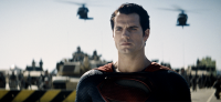 Henry Cavil as Superman in MAN OF STEEL (Image Credit: Warner Bros.)