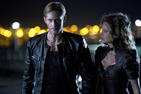 Alexander Skarsgård as Eric Northman and Kristin Bauer van Straten as Pam De Beaufort in TRUE BLOOD (Image Credit: John P. Johnson/HBO)