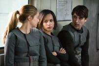 Shailene Woodley, Zoe Kravitz, and Ben Lloyd in DIVERGENT (Image Credit: Jaap Buitendijk / Summit Entertainment)