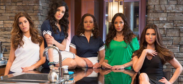 Ana Ortiz, Edy Ganem, Judy Reyes, Dania Ramirez and Roselyn Sanchez star in the new Lifetime series DEVIOUS MAIDS (Image Credit: Jim Fiscus / Lifetime)