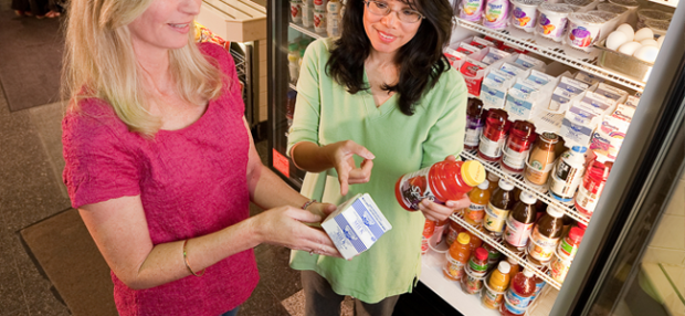 Checking Food Labels (Image Credit: US Department of Agriculture)
