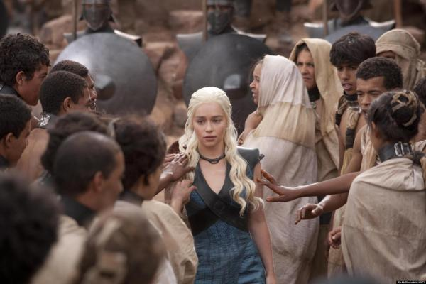 Emilia Clarke as Daenerys Targaryen in GAME OF THRONES (Image Credit: HBO)