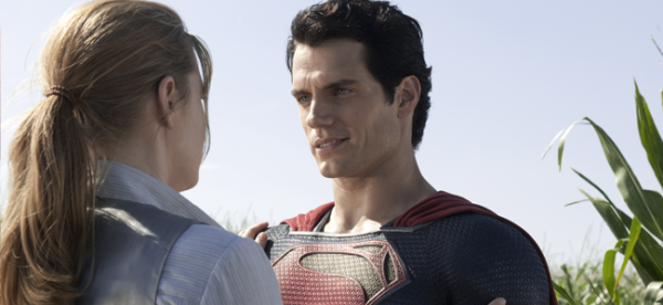 Amy Adams as Lois Lane and Henry Cavill as Superman in MAN OF STEEL (Image Credit: Warner Bros.)