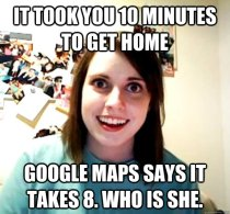 Overly Attached Girlfriend Meme (Image Credit: )