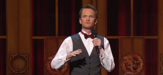 Neil Patrick Harris hosting the 67th ANNUAL TONY AWARDS (Image Credit: CBS)