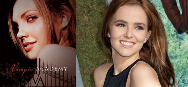 Vampire Academy (Image Credit: Richelle Mead) / Zoey Deutch (Image Credit: Tom Sorensen)