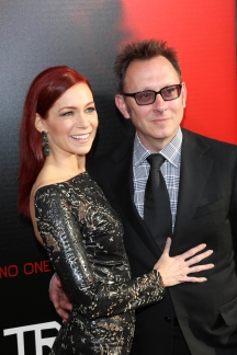 "Carrie Preston and Husband Michael Emerson at HBO's ""True Blood"" Season 6 Premiere (Image Credit: Andrew Evans / PR Photos)"