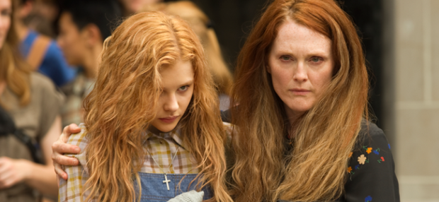 Chloe Moretz as Carrie White and Julianne Moore as Margaret White in CARRIE (Image Credit: Michael Gibson / Metro Goldwyn Mayer Pictures and Screen Gems)