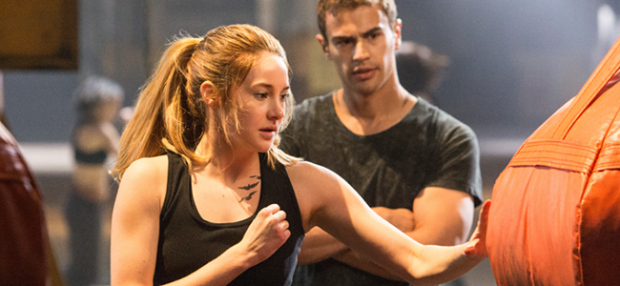 Shailene Woodley Theo James in DIVERGENT (Image Credit: Jaap Buitendijk / Summit Entertainment)